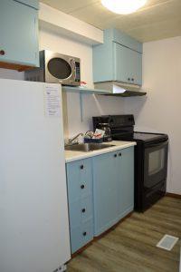 kitchen in villager motel